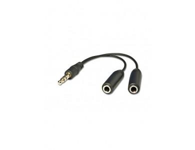 Кабель Audio(m) 3.5mm - 2*Audio(f) 3.5mm, 0,2м (разветвитель аудио - 0,2м)