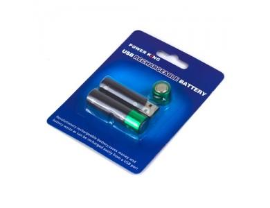 Купить в Алматы USB Аккумуляторы 1.2V, AA «пальчиковые» 300mAh (2 штуки)