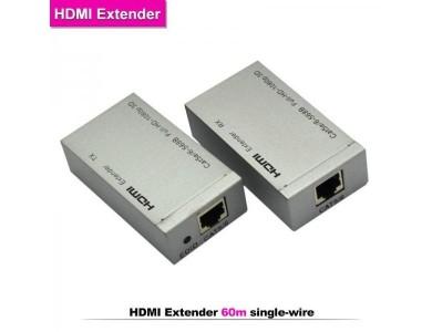Купить в Алматы HDMI Extender (удлинитель HDMI сигнала до 60м.)