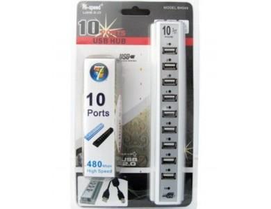 Купить USB2.0 10 PORTS хаб в Алматы