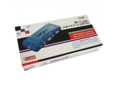 KVM Switch VGA + USB 4 port (1 монитор на 4 системных блока)