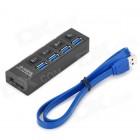 USB 3.0 хаб 4 порта высокоскоростной c переключателем