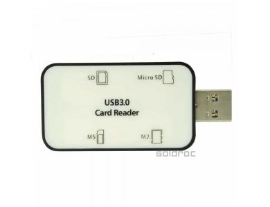 Купить в Алматы хаб USB 3.0 на 4 порта высокоскоростной