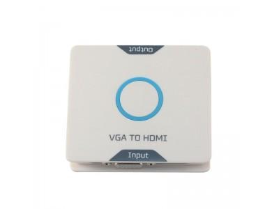 Адаптер конвертер / переходник / преобразователь с VGA + аудио на HDMI