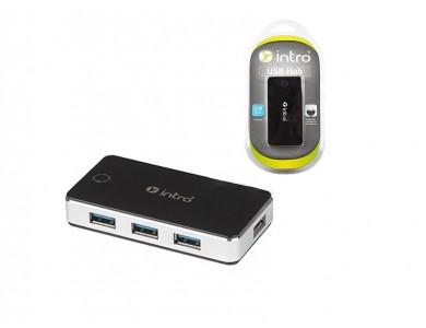 USB 3.0 хаб 4 порта INTRO H509 (с блоком питания) в Алматы