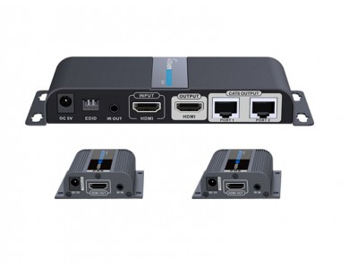 LenKeng LKV712Pro (удлинитель HDMI сигнала до 40м., комплект передатчик и два приемника) в Алматы.