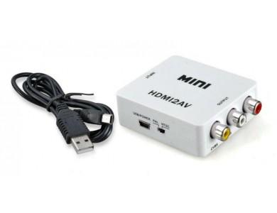 Купить в Алматы Адаптер конвертер / переходник / преобразователь с HDMI на RCA (тюльаны, колокольчики)