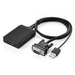 Конвертер с VGA + аудио на HDMI UGREEN