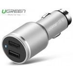Адаптер в прикуриватель 2*USB/24W (UGREEN)