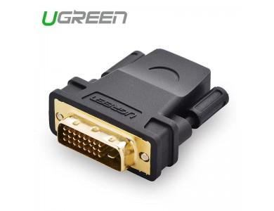 Переходник DVI(m) 24+1 - HDMI(f) UGREEN в Алматы
