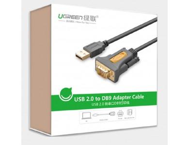 Кабель конвертер с USB(m) на COM(m) RS232 (UGREEN) Chipset:PL2303