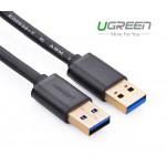 Кабель USB 3.0(m) - USB 3.0(m), 1m, круглый (UGREEN)