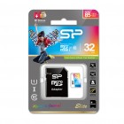 Карта памяти microSDHC с адаптером Silicon Power 32GB (UHS-I, class 10)