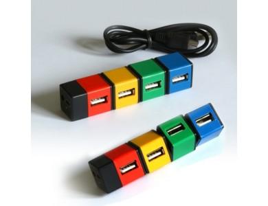 USB хаб, 4 порта в виде разноцветных кубиков. в Алматы