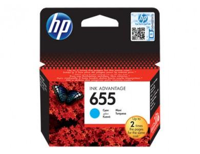 Купить картридж HP №655 Cyan (CZ110AE) в Алматы.
