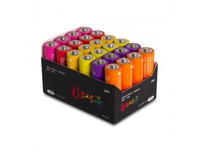 Батарейки, Xiaomi, Rainbow ZI 5 AA (AA524), 1.5V, 24 шт.