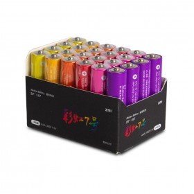 Батарейки, Xiaomi, Rainbow ZI 7 AAA (AA724), 1.5V, 24 шт