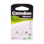 Батарейка CAMELION, AG0/LR521/379, Alkaline, 1.5V, 2 шт. Блистер