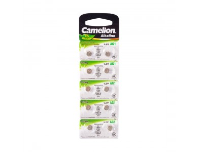 Батарейка CAMELION, AG1/LR60/364, Alkaline, 1.5V, 1шт.