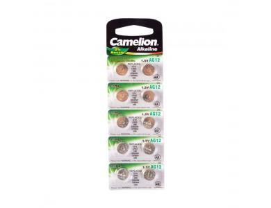 Батарейка CAMELION, AG12/LR43/386, Alkaline, 1.5V, 1шт.
