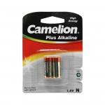Батарейка CAMELION, LR1-BP2, Plus Alkaline, N, 2 шт., Блистер