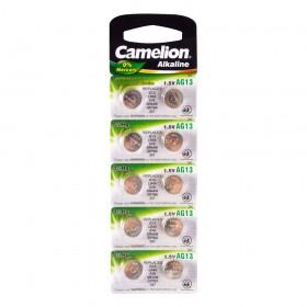 Батарейка Camelion, AG13-BP10, Alkaline, AG13, 1.5V, 10 шт.