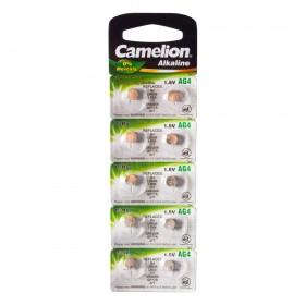 Батарейка Camelion, AG4-BP10, Alkaline, AG4, 1.5V, 10 шт.