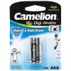 Батарейка Camelion, LR03-BP2DG, AAA, 1.5V, 1250mAh, 2 шт.