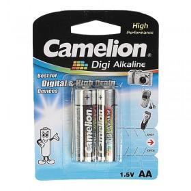 Батарейка Camelion, LR6-BP2DG, Digi Alkaline, AA, 1.5V, 2800mAh, 2 шт. в блистере