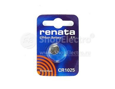 Купить в Алматы батарейки Renata CR1025