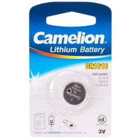 Батарейка CAMELION, CR1616-BP1, Lithium Battery, CR1616, 3V, 220 mAh, 1 шт.