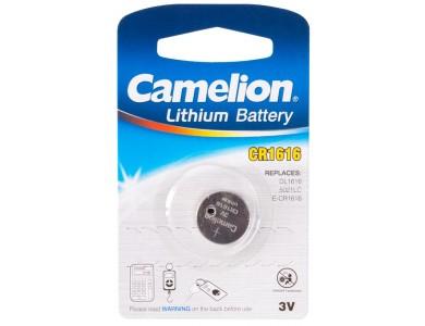 Батарейка CAMELION, CR1616-BP1, Lithium Battery, CR1616, 3V, 220 mAh, 1 шт.