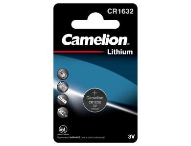 Батарейка CAMELION, CR1632-BP1 Lithium Battery, CR1632, 3V, 220 mAh, 1 шт.