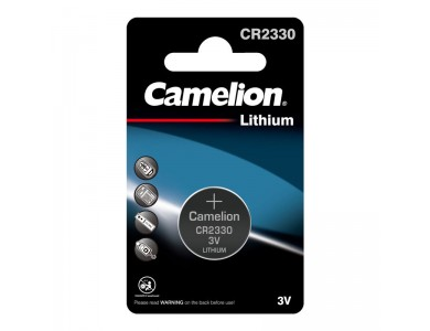 Батарейка CAMELION, CR2330-BP1 Lithium Battery, CR2330, 3V, 220 mAh, 1 шт.