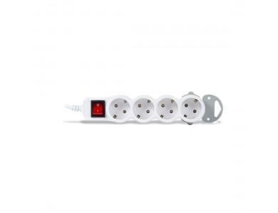 Сетевой фильтр, iPower, Home W4-50M, 4 розеток, 5 метров