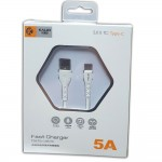 Кабель USB(m) - USB 2.0(m) Type C, 5A, 1m KALIO