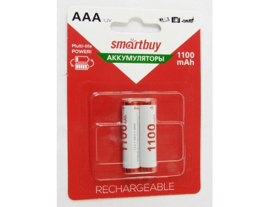 Батарейка Smartbuy AAA, аккумуляторы 1100mAh