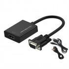 Конвертер с VGA + аудио на HDMI