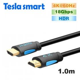 Кабель HDMI 1.0m, V2.0, TeslaSmart