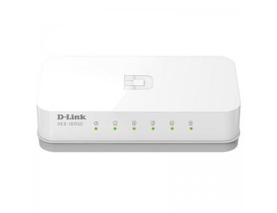 D-Link DES-1005C, коммутатор 5-портовый, 10/100 Мбит/с
