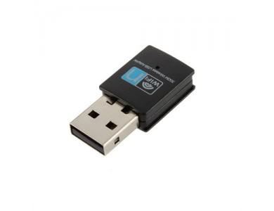 Купить в Алматы Мини 300M USB2.0 WiFi беспроводной сетевой адаптер 802.11 N / G / B 300 Мбит T7