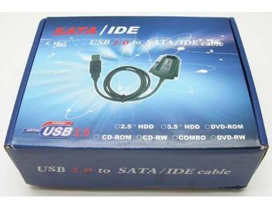 Купить в Алматы переходник (адаптер) с USB на SATA & IDE (кабель / адаптер / переходник для подключения HDD 2.5/3.5 жестких дисков через USB )