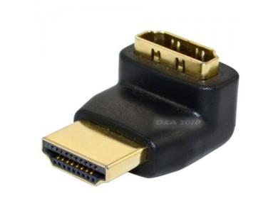 Переходник HDMI(f)- HDMI(m) 90° v1.4