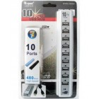 USB2.0 10 PORTS HUB (USB хаб на 10 портов с дополнительным питанием от 220V)