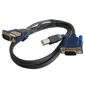 Кабель KVM USB+VGA, 1.5m