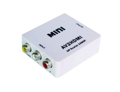 Адаптер конвертер / переходник / преобразователь с RCA (тюльпаны, колокольчики) на HDMI