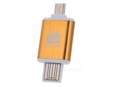 Card Reader USB/microUSB - MicroSD (переходник с microSD на USB или microUSB) в Алматы.