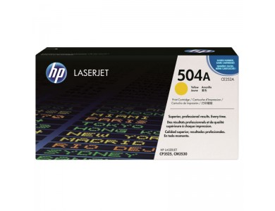 Купить картридж HP CE252A, 504A в Алматы. Доставка. Цена: 45000тг. Ресурс: 7000 страниц формата А4 при 5% заполнении. Совместимость: HP Сolor LaserJet CM3530, CM3530fs, CP3525dn, CP3525n, CP3525x