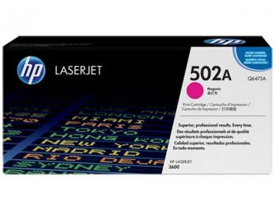 Купить картридж HP Q6473A, 502A (magenta) в Алматы. Цена: 26 000 тг. Ресурс: 4000 страниц формата А4 при 5% заполнении. Совместимость: Color LaserJet 3600, 3600n, 3600dn