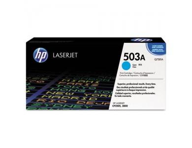 Купить картридж Q7581A, 503A в Алматы. Цена: 27 000 тг. Ресурс: 6000 страниц формата А4 при 5% заполнении Совместимость: Color LaserJet 3600, 3800
